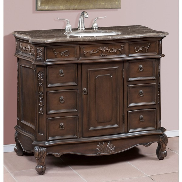 ica furniture madison antique brown cherry bathroom vanity chest