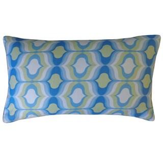 Jiti Copacabana Blue Geometric 12x20-inch Pillow