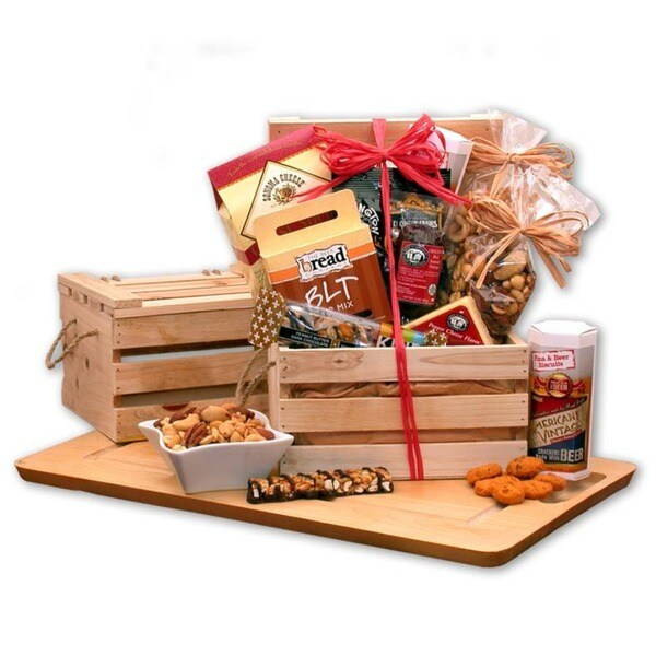 Premium Nuts and Snacks Crate