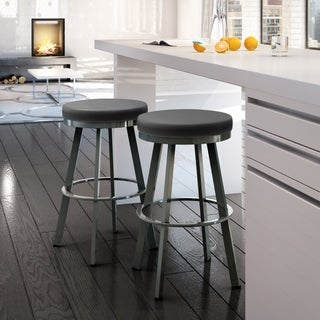 Amisco Swice Counter Height Swivel Upholstered Counter Stool