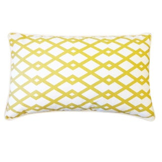 Moderna Gold Geometric 12x20-inch Pillow