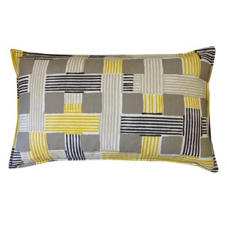 On The Move Yellow Weave 12x20-inch Pillow