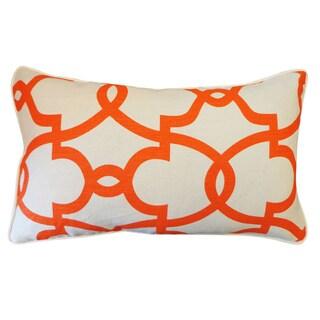 Dean Cream Orange Geometric 12x20-inch Pillow