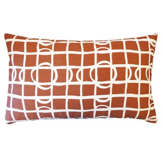 Planet Brown Geometric 12x20-inch Pillow