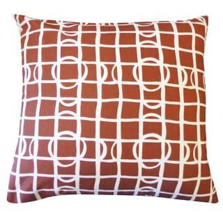 Planet Brown Geometric 20x20-inch Pillow