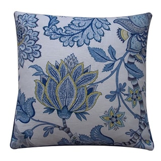 Lorax Blue Floral 20x20-inch Pillow