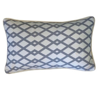 Moderna Grey Geometric 12x20-inch Pillow