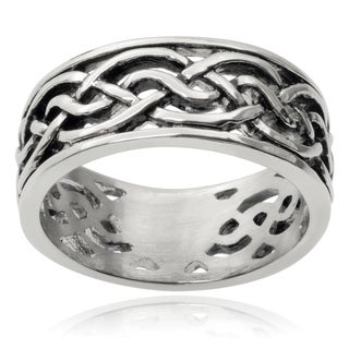 Vance Co. Men's Stainless Steel Celtic Band (9 mm)