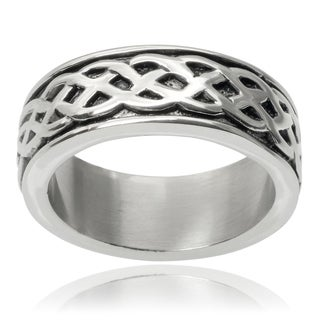 Vance Co. Men's Stainless Steel Celtic Band (8 mm)