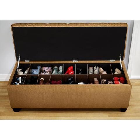 The Sole Candice Fawn Secret Shoe Storage Bench