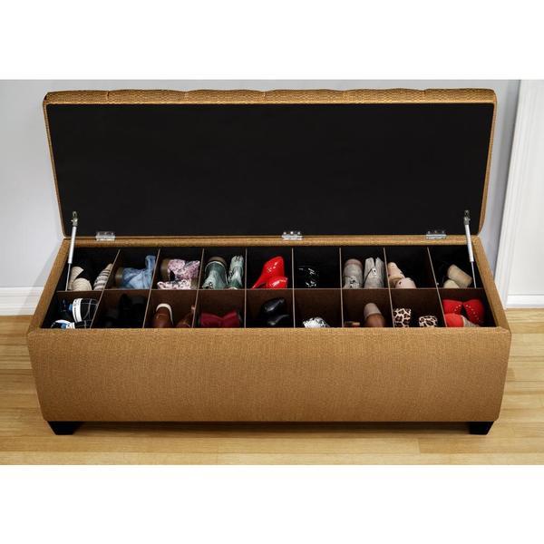 Shop The Sole Candice Fawn Secret Shoe Storage Bench On