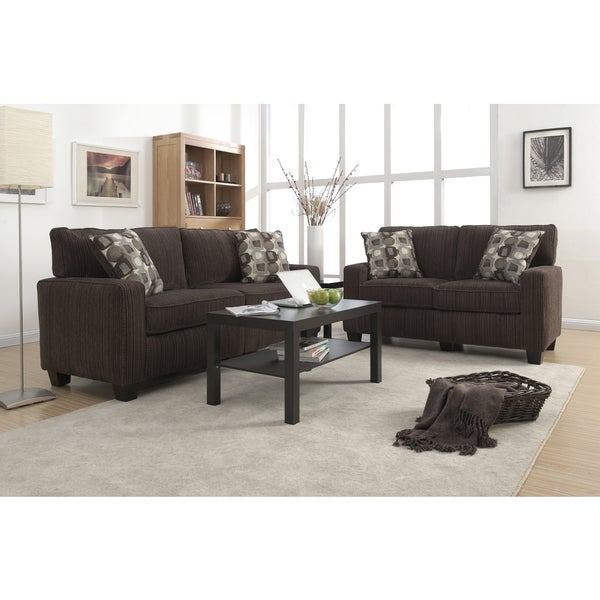 Serta RTA Palisades Collection 60 Inch Riverfront Brown Loveseat