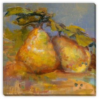 Gallery Direct Sylvia Angeli's 'Pair of Pears' Canvas Gallery Wrap Wall Art