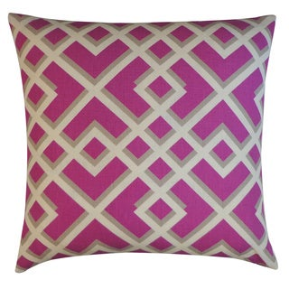 Flexi Purple Geometric 20x20-inch Pillow
