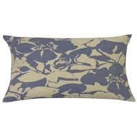 Peony Indigo Floral 12x20-inch Pillow