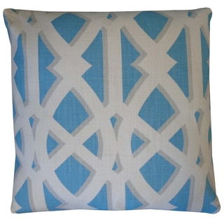 Crossroads Sky Geometric 20x20-inch Pillow