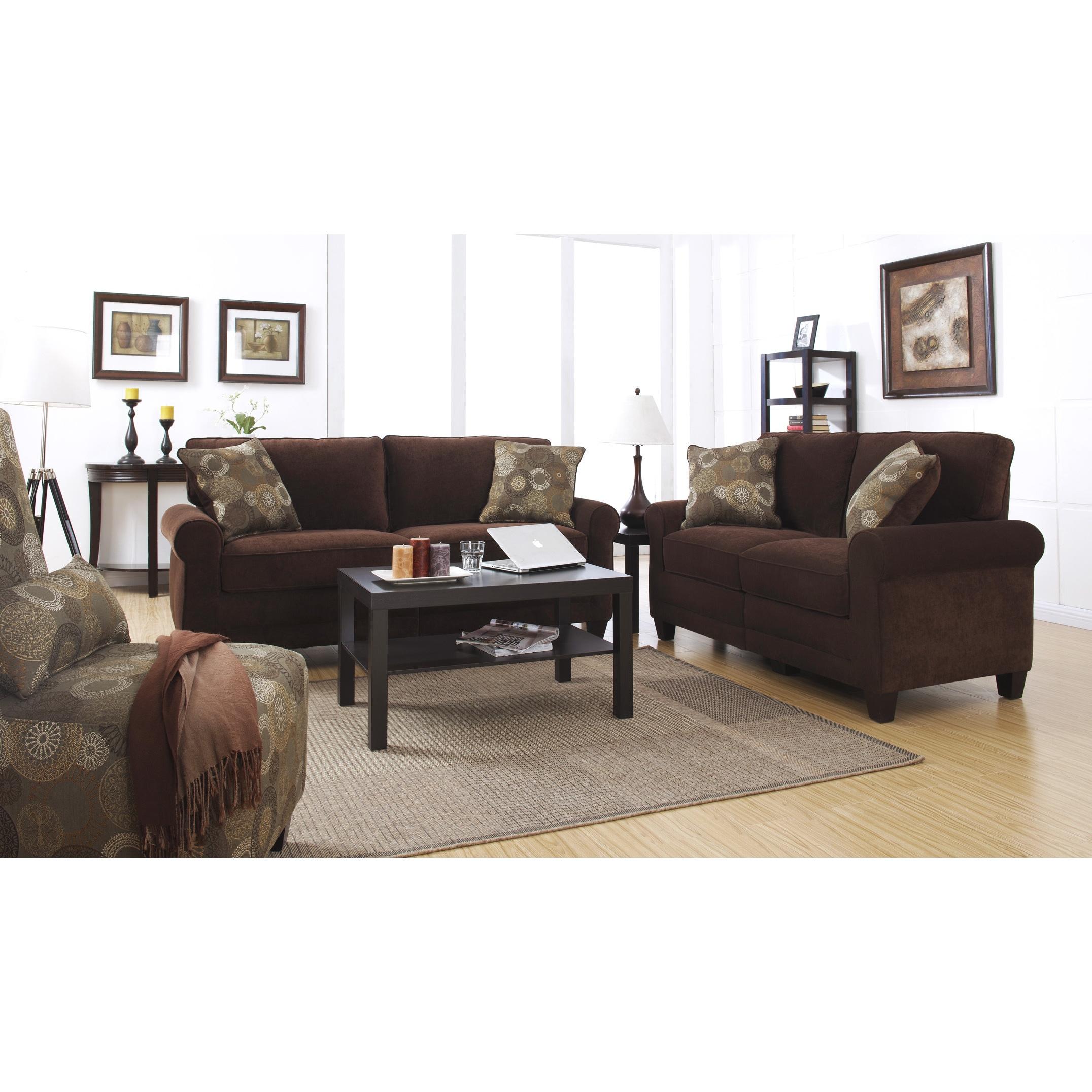 Serta RTA Copenhagen Collection 73-inch Rye Brown Sofa (S...
