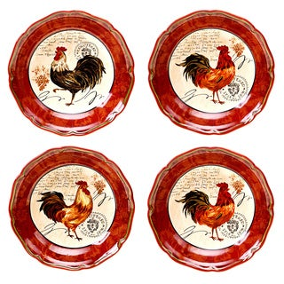 Certified International Tuscan Rooster 8.75-inch Soup/ Cereal Bowls (Set of 4)