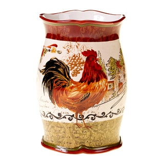 Certified International Tuscan Rooster 8.25-inch Wine Cooler