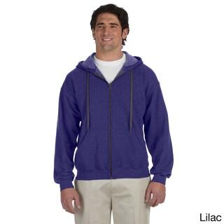 Gildan Men's Heavy Blend 8-ounce Vintage Classic Full-zip Hoodie (Option: 3XL,lilac)