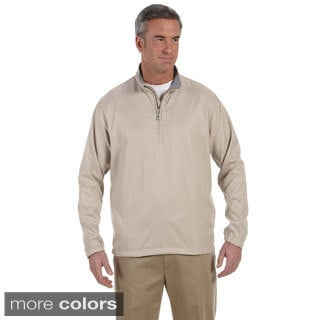 Ashworth Men's Houndstooth Half-zip Jacket