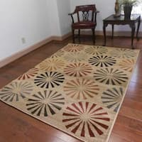 Contemporary Geometric Modern Multicolored Area Rug - 7'10 x 10'3