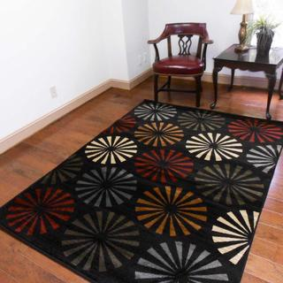 Contemporary Geometric Modern Multicolored Area Rug (7'10 x 10'3)