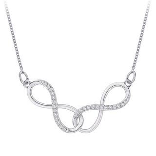 10k White Gold 1/6ct TDW Diamond Infinity Necklace