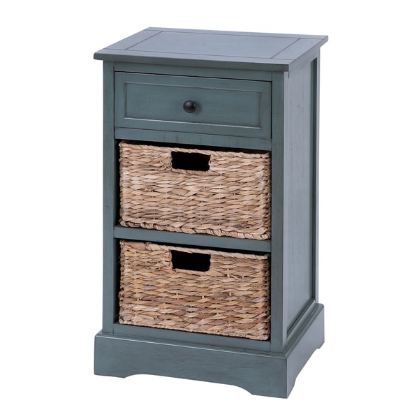 Woodcraft Life Style Cabinet With 2 Wicker Baskets - Free Shipping ...