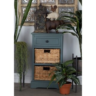 Woodcraft Life Style Cabinet With 2 Wicker Baskets
