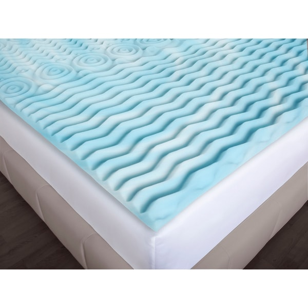 authentic comfort 3inch comfort rx 5zone foam mattress topper free shipping today - Gel Mattress Topper