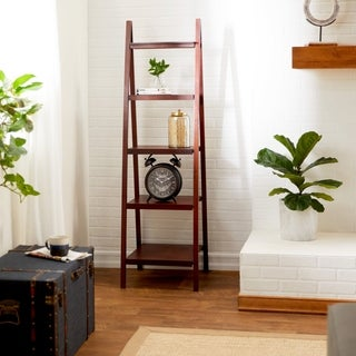 66-inch Brown Wood Bookcase
