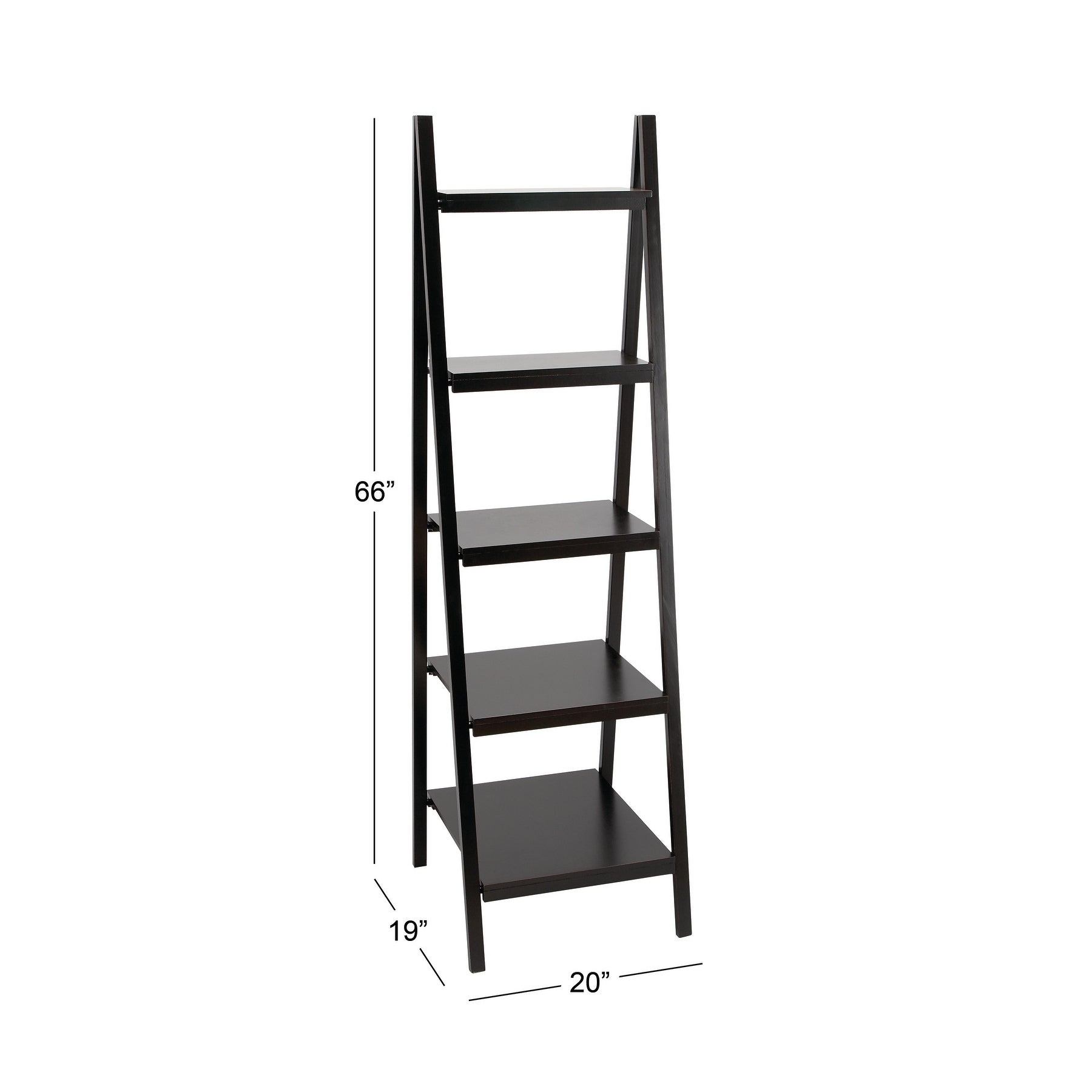 66 Inch Wood Bookcase