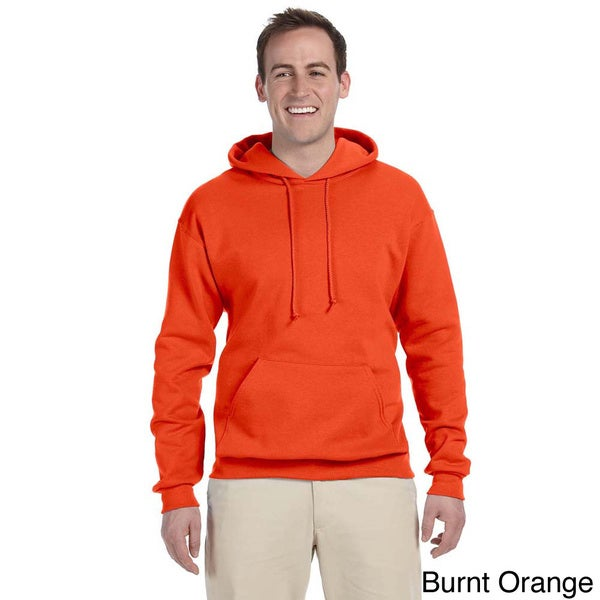 Men's 50/50 8-ounce NuBlend Fleece Hooded Sweatshirt. Opens flyout.