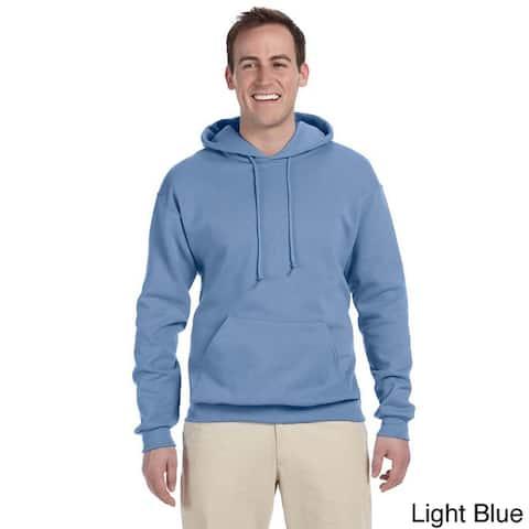 Men's 50/50 8-ounce NuBlend Fleece Hooded Sweatshirt