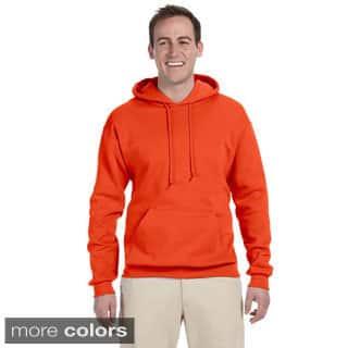 Men's 50/50 8-ounce NuBlend Fleece Hooded Sweatshirt|https://ak1.ostkcdn.com/images/products/9143871/Mens-50-50-8-ounce-NuBlend-Fleece-Hooded-Sweatshirt-P16324752.jpg?impolicy=medium