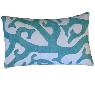 Reef Teal Abstract 12x20-inch Pillow