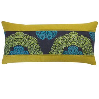 Medallion Blue Floral 12x20-inch Pillow