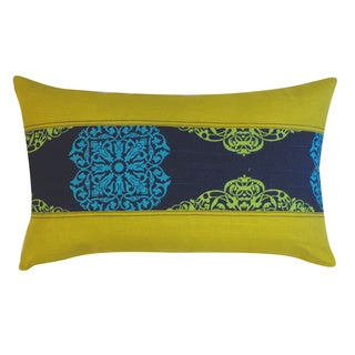 Medallion Blue Floral 12x20-inch Pillow