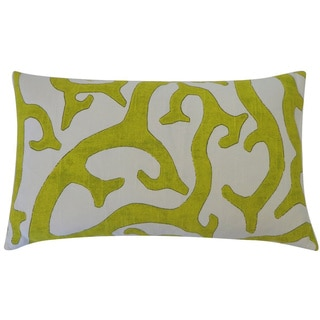 Reef Lime Abstract 12x20-inch Pillow