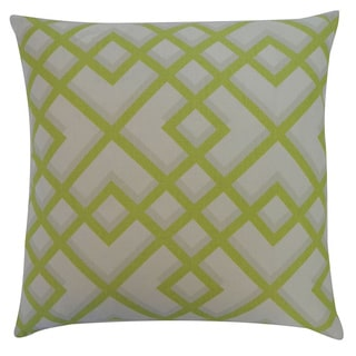 Jiti Flexi Lime Geometric 20x20-inch Pillow