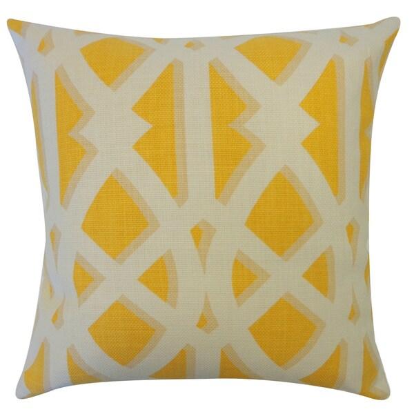 CrossRoads Mustard Geometric 20x20-inch Pillow