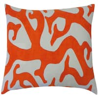 Reef Oragne Abstract 20x20-inch Pillow - 20 x 20