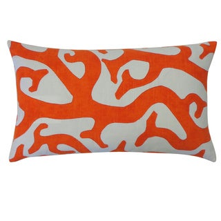 Reef Orange Abstract 12x20-inch Pillow