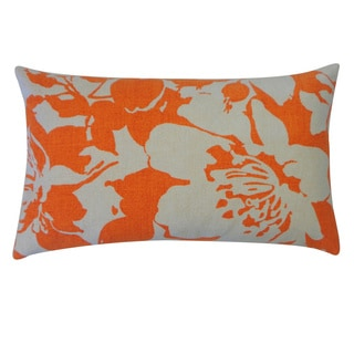 Peony Tan Floral 12x20-inch Pillow