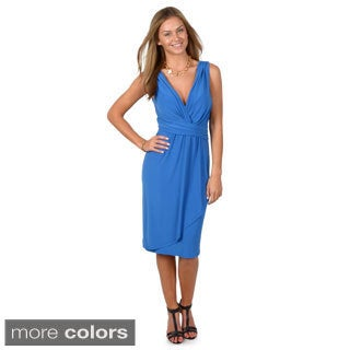 Journee Collection Women's Sleeveless Surplice Dress