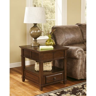 Signature Designs by Ashley Gately Medium Brown Rectangular End Table