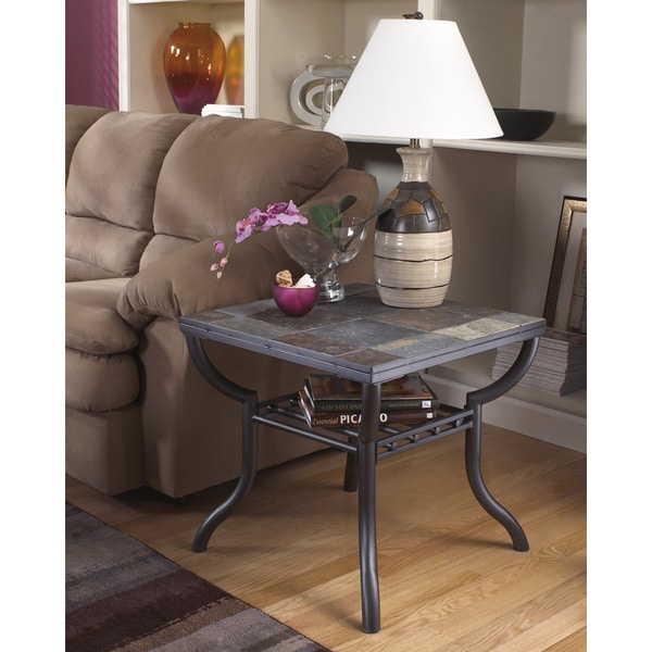 Shop Signature Designs By Ashley Antigo Black Square End Table Free Shipping Today Overstock