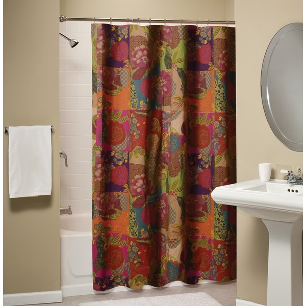 Greenland Home Fashions Jewel Cotton Shower Curtain - Free ...