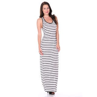 Stanzino Women's Striped Racerback Maxi Dress